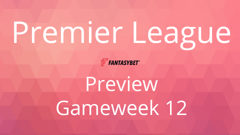 Line-up: Premier League Gameweek 12 on FantasyBet