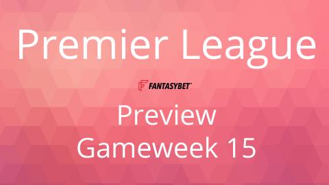 Line-up: Premier League Match Day 15 on FantasyBet