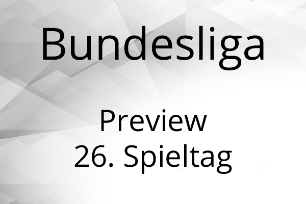 Bundesliga preview gameweek 26
