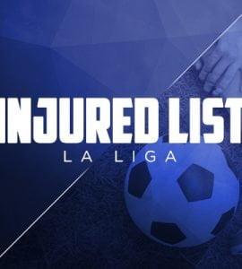 Injured list La Liga – Injuries and Suspensions