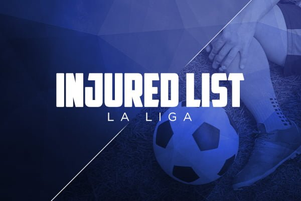 Injured list La Liga – Injuries and Suspensions