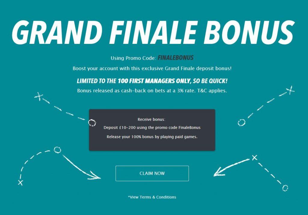 FantasyBet grand finale bonus