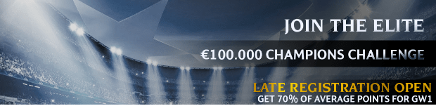 100k Champions League Fanteam late reg
