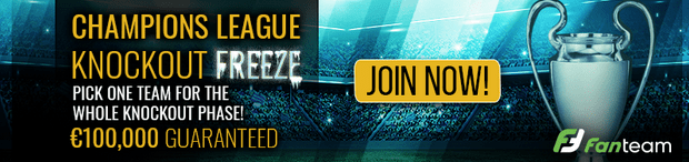 champions league knockout freeze 100k gtd-min