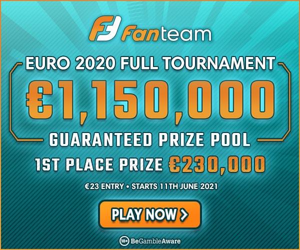 FanTeam Euro 2021 1st place prize
