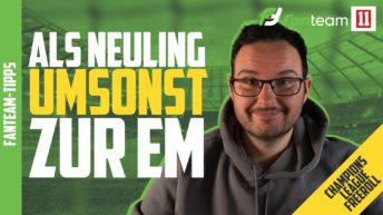 FanTeam: Champions League Freeroll für Neueinsteiger (2021)