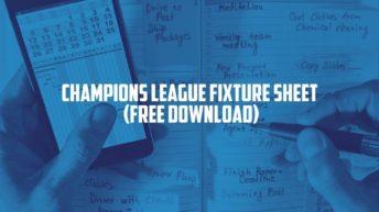 Champions League Fixture Sheet 2021_22 - Free Download
