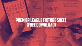 PREMIER LEAGUE FIXTURE SHEET 2021_22 (FREE DOWNLOAD)